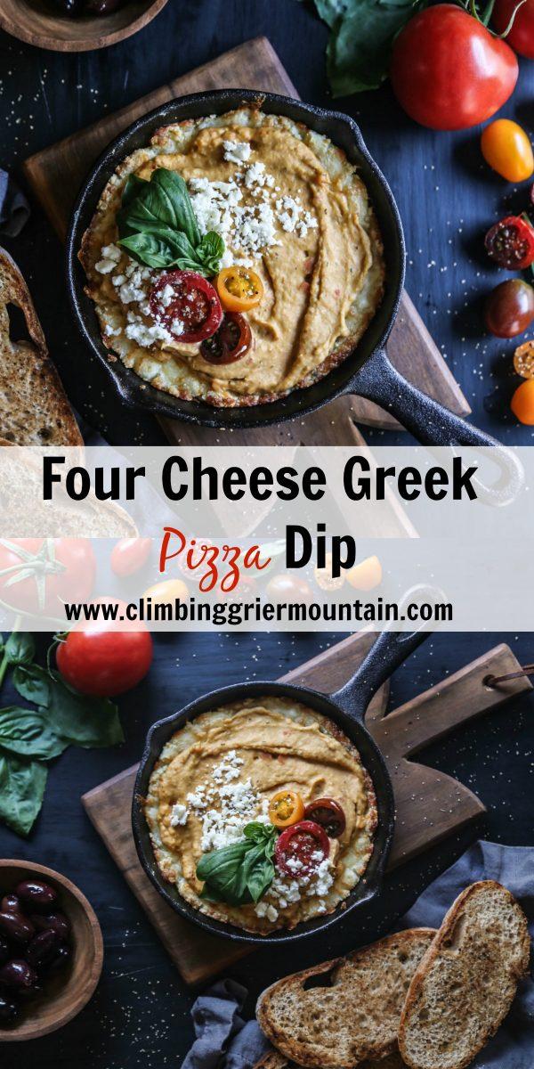 Four Cheese Greek Pizza Dip