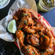 mexican spiced crispy-oven wings with avocado crema www.climbinggriermountain.com