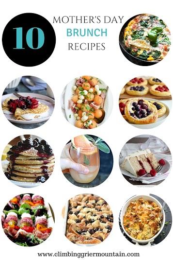 ten mother's day brunch recipes www.climbinggriermountain.com
