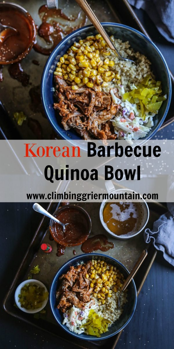 Korean Barbecue Quinoa Bowl