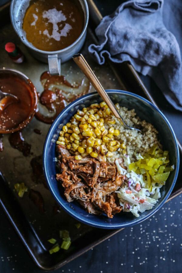 Korean Barbecue Quinoa Bowl www.climbinggriermountain.com