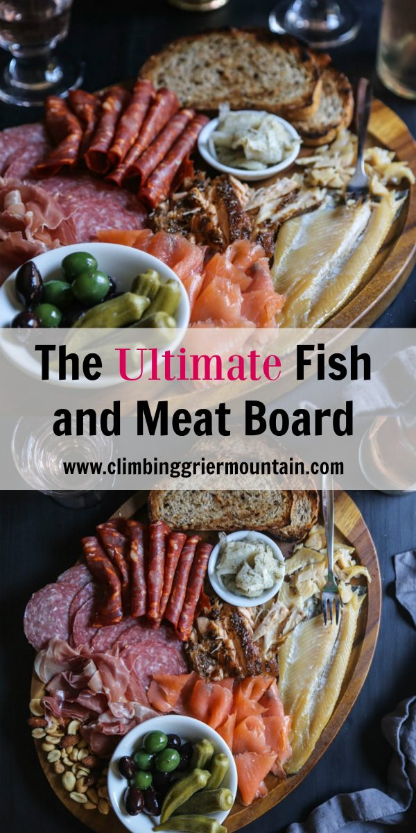 the ultimate fish and meat board