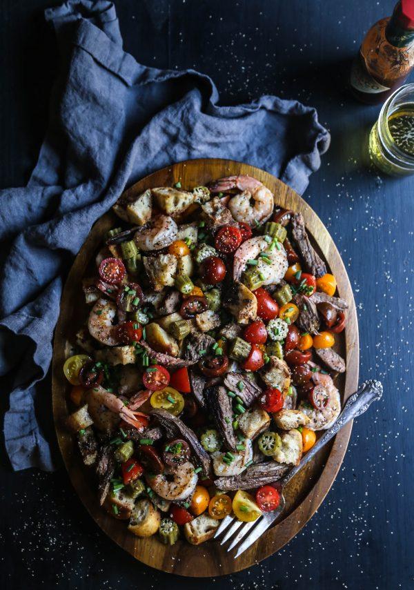 Chipotle Steak and Shrimp Panzanella Salad www.climbinggriermountain ...