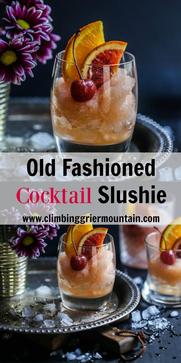old fashioned cocktail slushy
