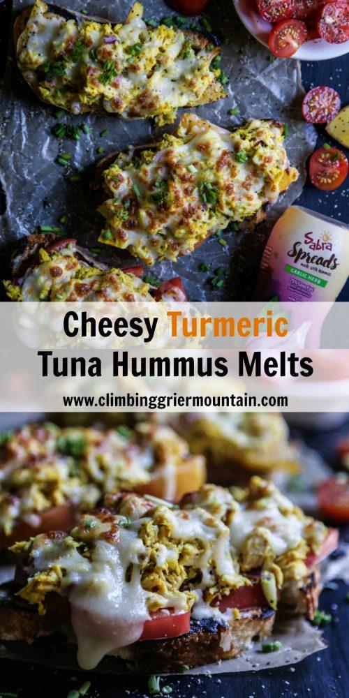 cheesy-turmeric-tuna-hummus-melts