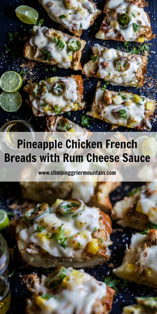 Pineapple Chicken French Breads with Rum Cheese Sauce ...