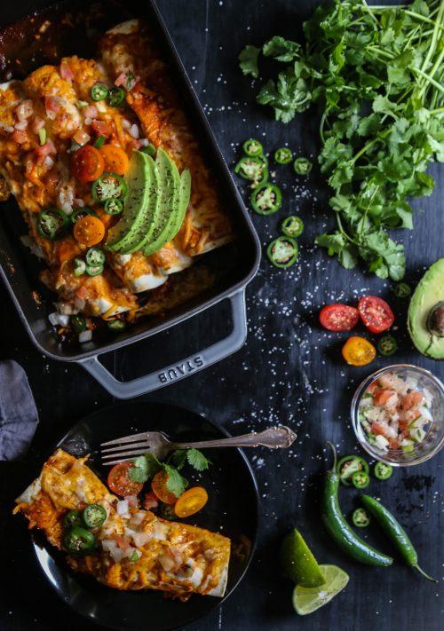 Chicken Chorizo & Jalapeño Breakfast Enchiladas www.climbinggriermountain.com I