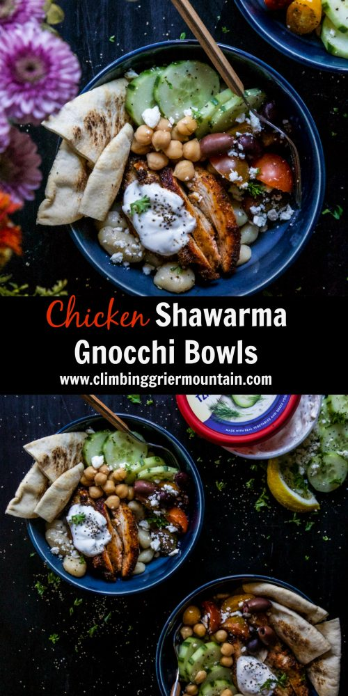 Chicken Shawarma Gnocchi Bowls - Climbing Grier Mountain