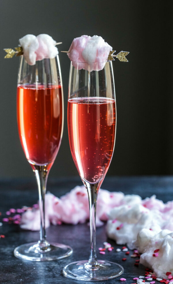 Sparkling Pink Limeade With Champagne Cotton Candy