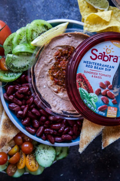 Easy Mediterranean Bean Dip Platter - Climbing Grier Mountain