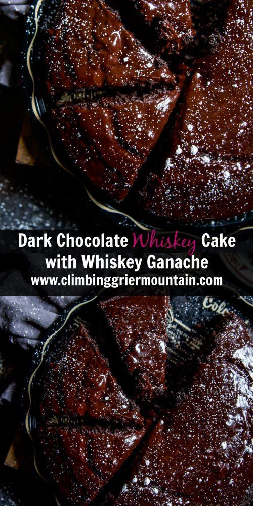 Dark Chocolate Whiskey Cake With Whiskey Ganache