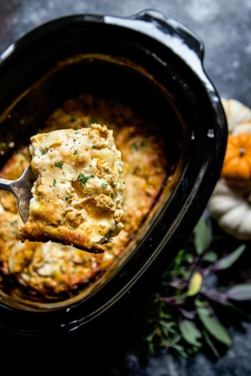 slow cooker pumpkin lasagna