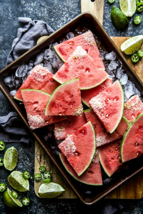 jalapeno margarita watermelon slices