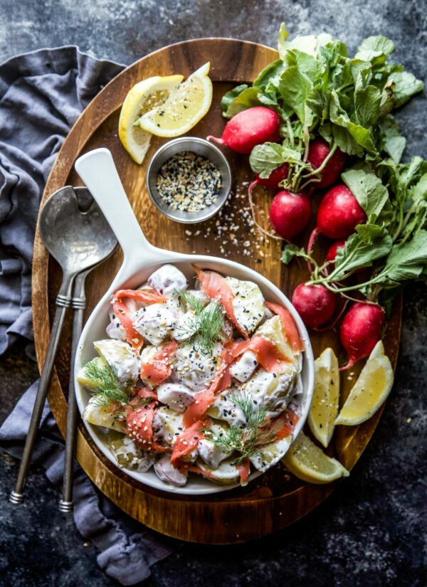 Everything Spiced Potato Salad with Lox