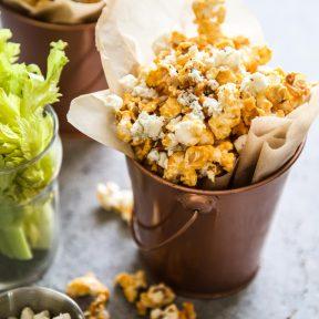 Buffalo Wing Popcorn on a table