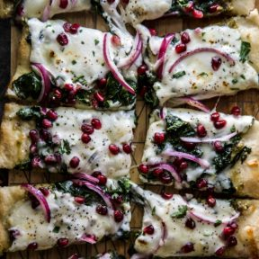 Winter Greens Pomegranate Pizza