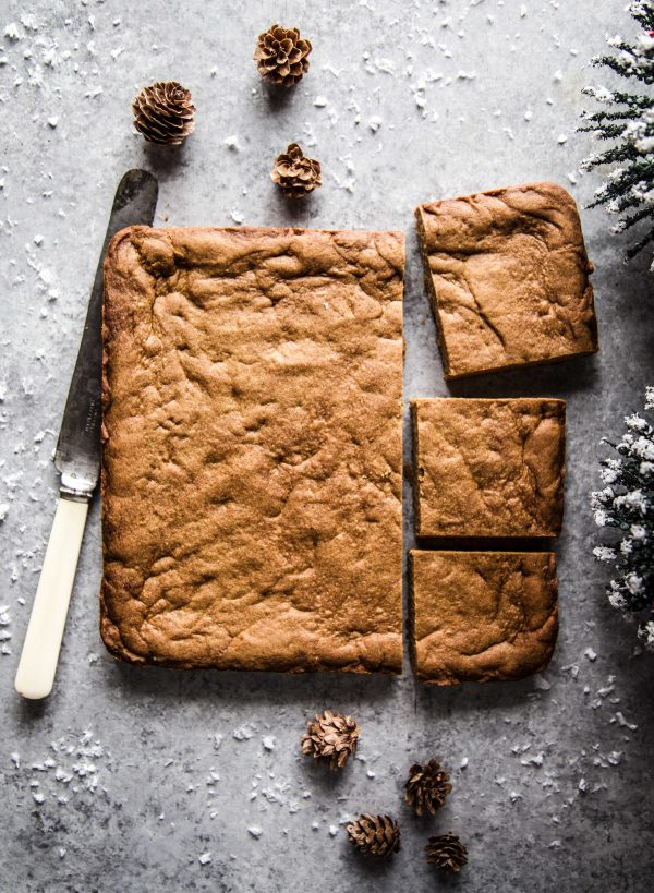 gingerbread cooked cookie dough on a table