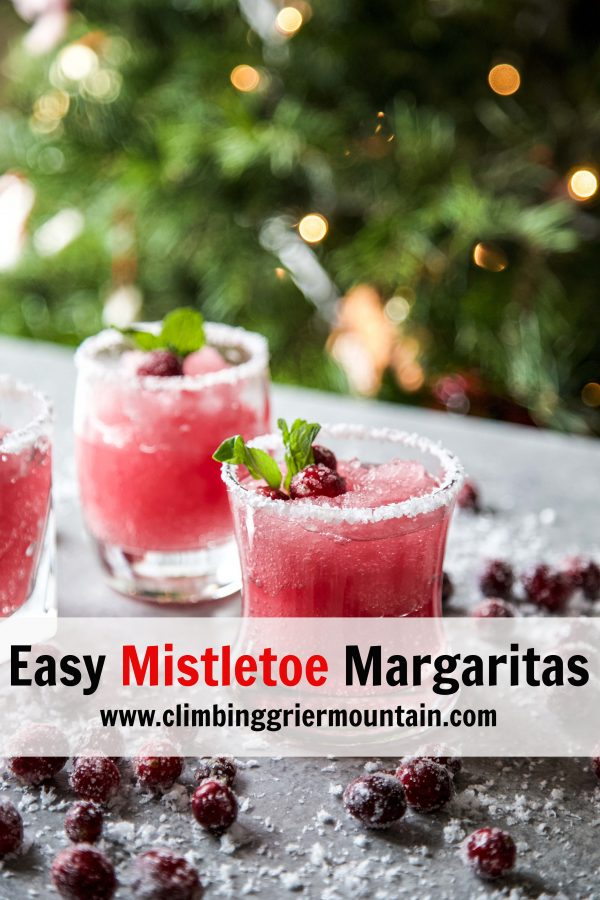 cranberry margarita on a board