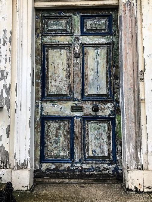 wooden door in Ireland