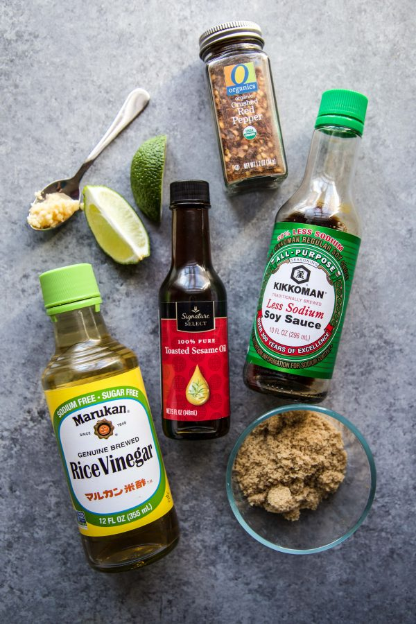 ingredients to make Sesame Beef Tacos with Quick Pickled Onions