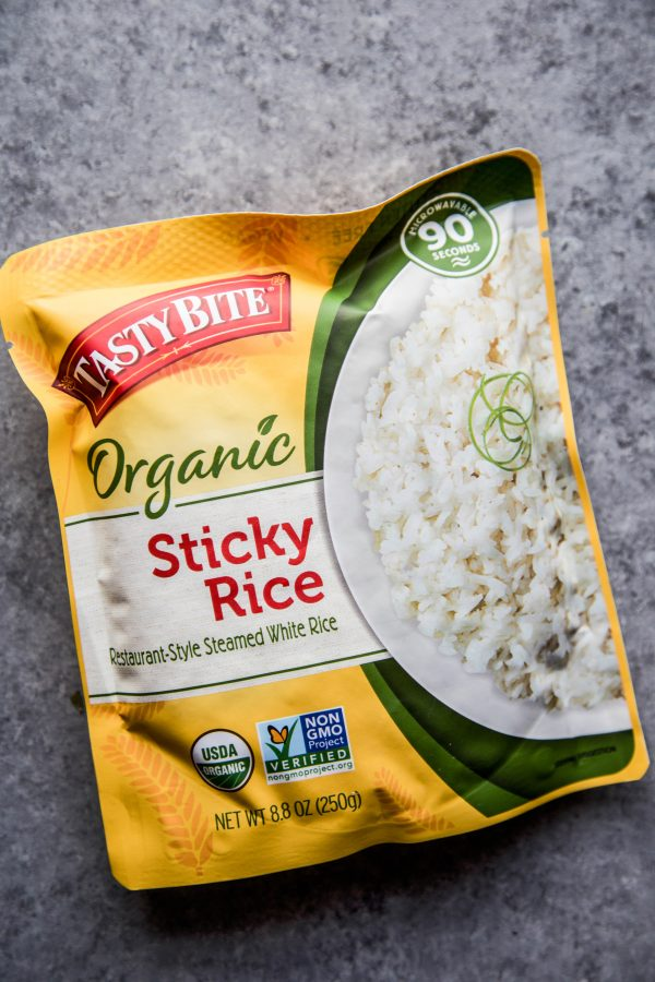 sticky rice in a packet