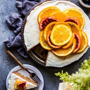 Honey Cake with Citrus Vanilla Frosting www.climbinggriermountain.com