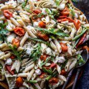 spring chickpea pasta