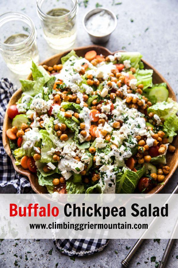 Buffalo Chickpea Salad www.climbinggriermountain.com 1