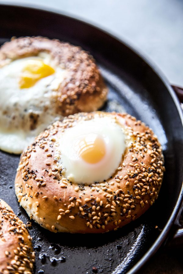 egg baked in the everything bagel