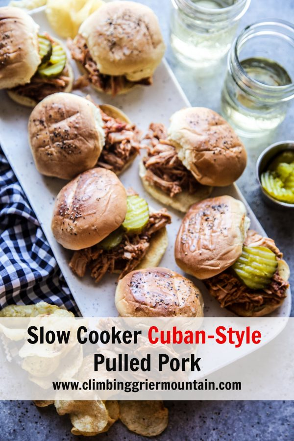 slow cooker cuban style pulled pork www.climbinggriermountain.com.