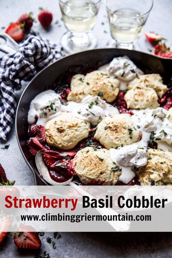 strawberry basil cobbler www.climbinggriermountain.com