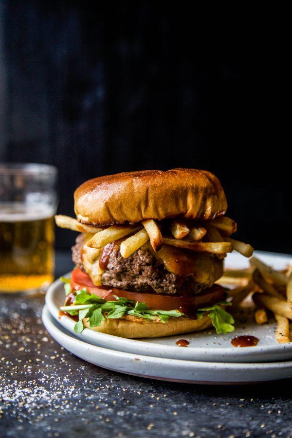 american lamb burger and frites