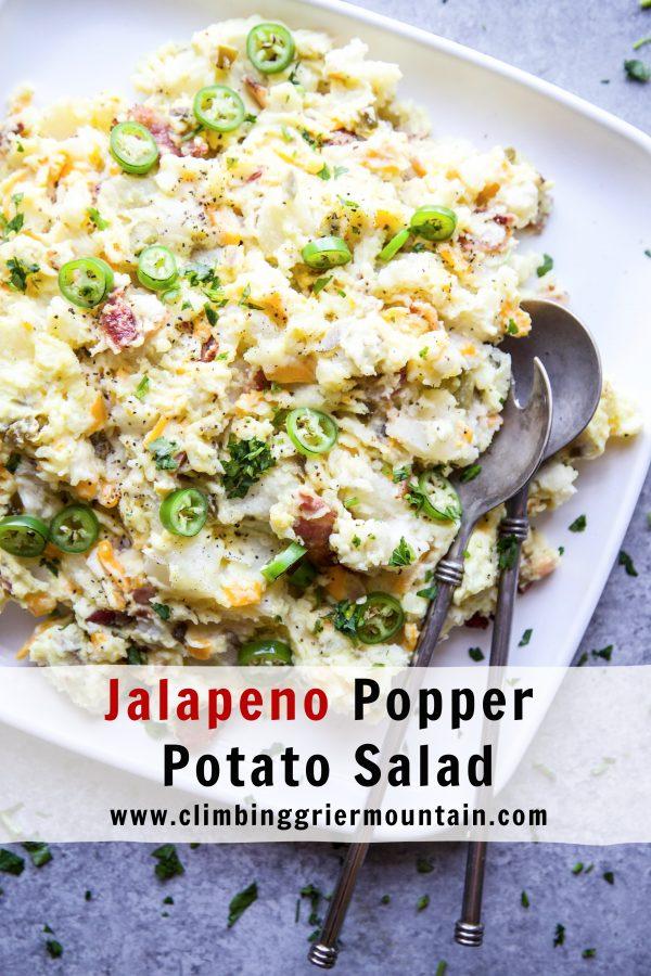 Jalapeno Popper Potato Salad www.climbinggriermountain.com