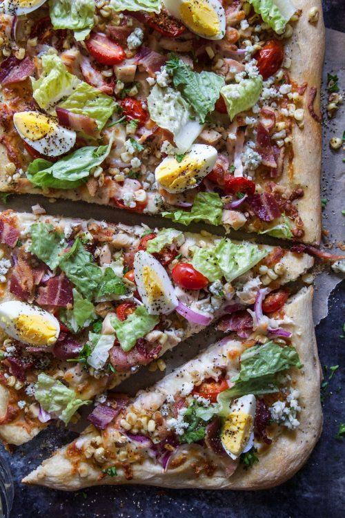 summer cobb salad pizza