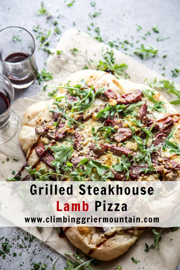 Grilled Steakhouse Lamb Pizza www.climbinggriermountian.com