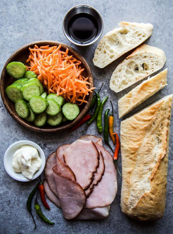 Banh Mi Bruschetta ingredients www.climbinggriermountain.com.