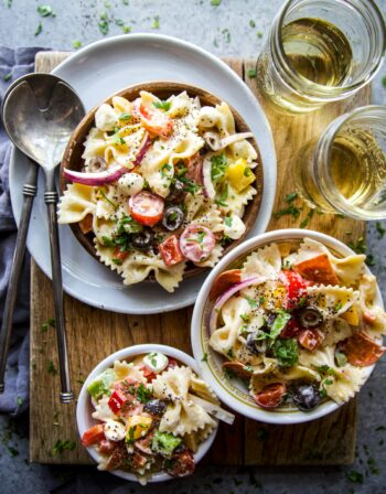easy pizza pasta salad www.climbinggriermountain.com