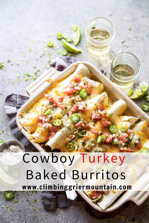 Cowboy Turkey Baked Burritos www.climbinggriermountain.com