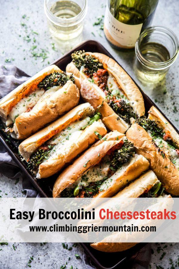 Easy Broccolini Cheesesteaks www.climbinggriermountain.com