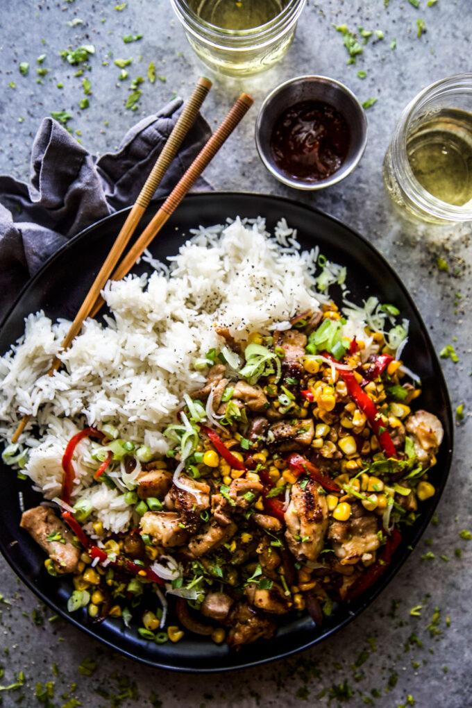 Easy Chicken & Corn Stir-Fry www.thecuriousplate.com