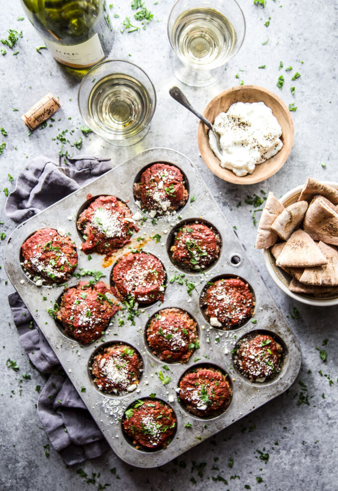 Spiced Beef Meatloaf Muffins with Feta www.thecuriousplate.com
